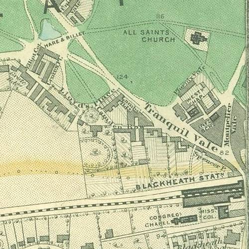 Old Map of Blackheath, London, section