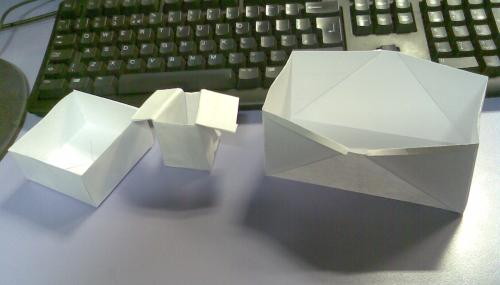 Origami bin liner replacements prototypes