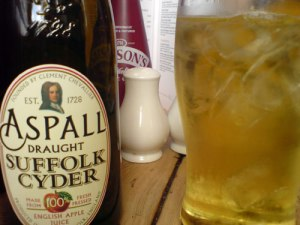 Hare and Billet Pub, Blackheath.  Aspall Cider