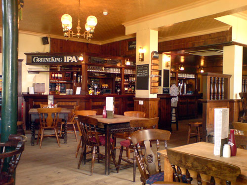 Hare and Billet Pub, Blackheath.  Inside view