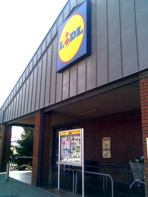 LiDL supermarket, greenwich peninsular, london