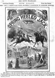 Spring Heeled Jack on a Penny Dreadful