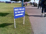 Start Sign at the Race For Life Blackheath 2008