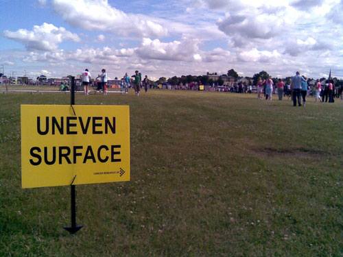 Uneven surface, as if you didn't know...