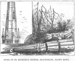 St Michael's Church, Blackheath, spire collapsed