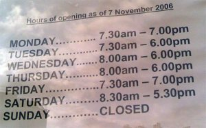 Blackheath Dry Cleaners Opening Hours