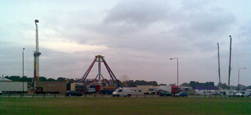 Blackheath Fun Fair setting up