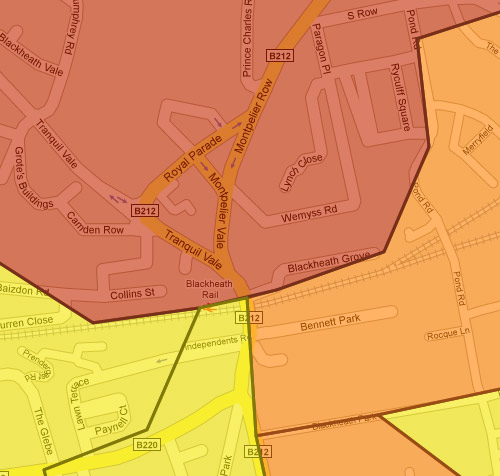 Blackheath Crime Map beta from the Met Police