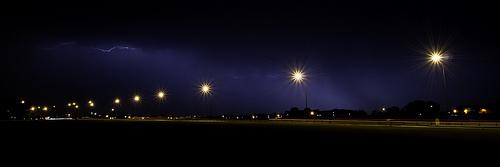 Lightning on Blackheath Common during a thunderstorm.  Taken by flickr user TG&BB