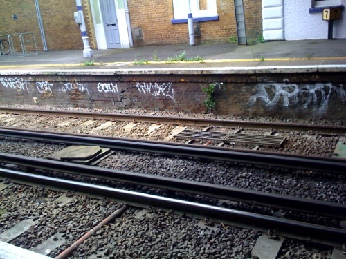 Graffiti at Blackheath Station