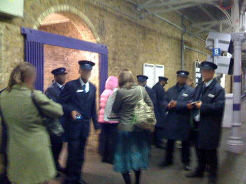 Ticket Inspectors at Blackheath Station