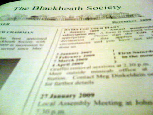 Blackheath Society Newsletter