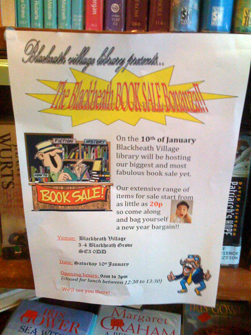Second Hand Book Sale Blackheath Library Jan 10th