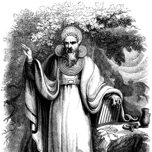 An arch druid priest, from wikipedia dated 1845