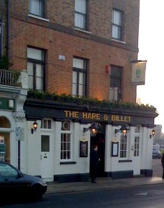 The Hare and Billet pub Blackheath new years eve