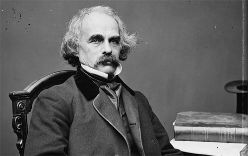 Nathaniel Hawthorne between 1860 and 1864