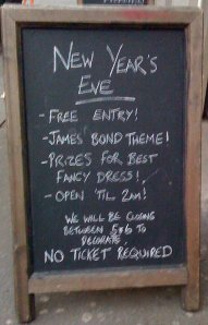 The Railway pub Blackheath new years eve
