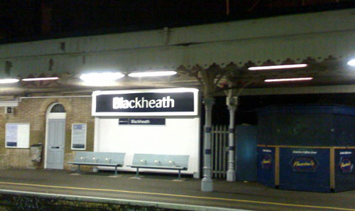 Blackheath new station sign