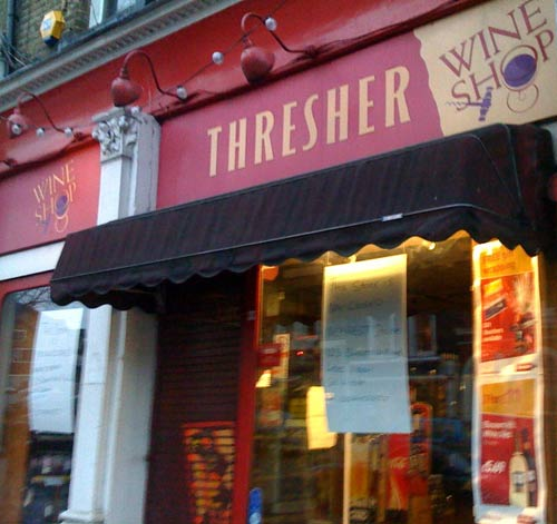 Threshers off license in Blackheath is closing