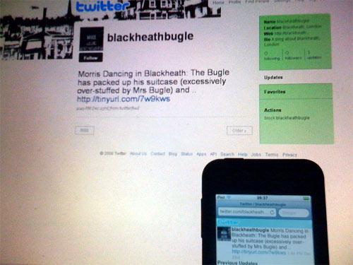 The Blackheath Bugle on Twitter