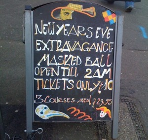 Zero Degrees pub Blackheath new years eve