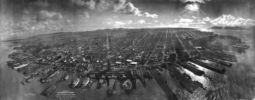 San Francisco in ruin Kite aerial photo from wikipedia
