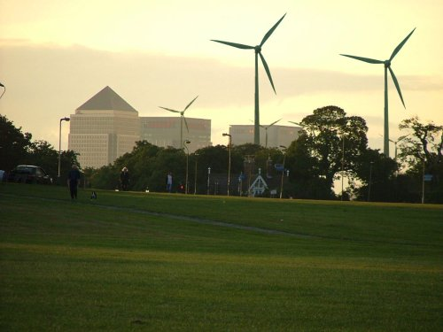 Blackheath with wind turbines