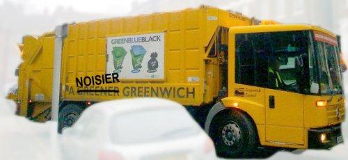 Noisy dustcart blackheath greenwich council stand well clear