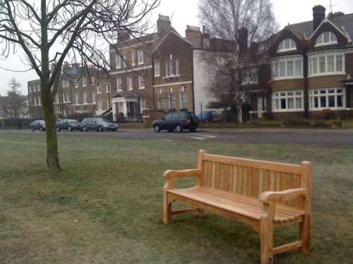 New park benches in Blackheath taken by twitter user Siobhan_