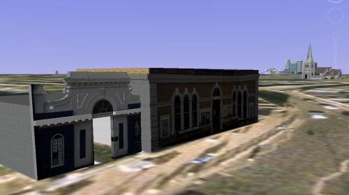 Blackheath Station in 3D in Google Earth and SketchUp