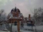 Greenwich Observatory  in the snow