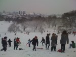 Tobogganing down from Greenwich Observatory
