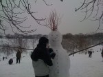 Greenwich park snowman