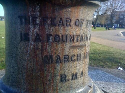 Water fountain on Blackheath