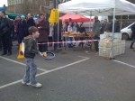 Racing with pancakes at the Blackheath Farmers Market