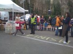 The Finish line at the Blackheath Farmers Market