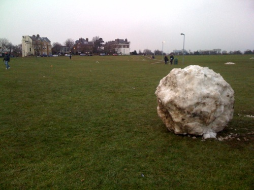Great big dirty snowball on the heath - possibly a comet?