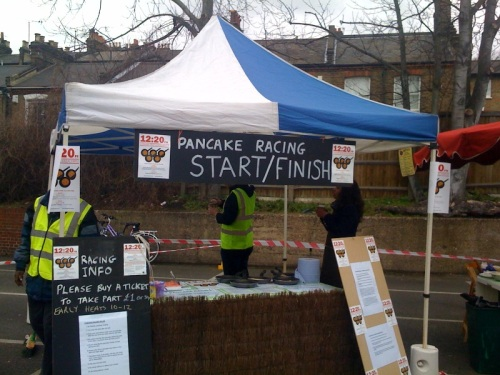 Pancake Racing at the Blackheath Farmers Market