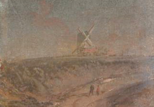 A Windmill on Blackheath painting by J.M.W. Turner in the Tate Collection