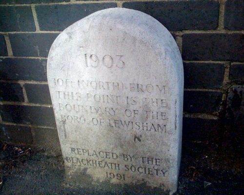 Lewisham Boundary stone in Blackheath