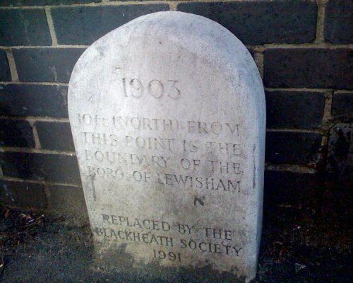 Lewisham Boundary stone in Blackheath