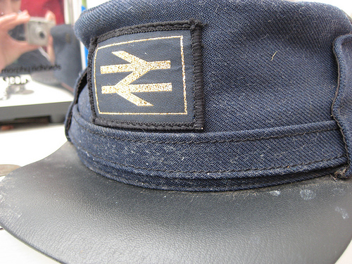 British Rail hat by flickr user Geshmally