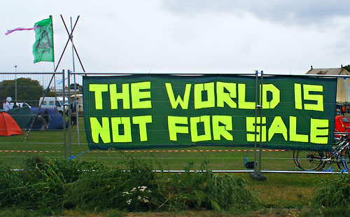 Blackheath Climate Change - The World is not For Sale sign by SallyB2