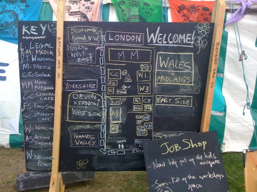 Climate Change Blackheath Blackboard Map