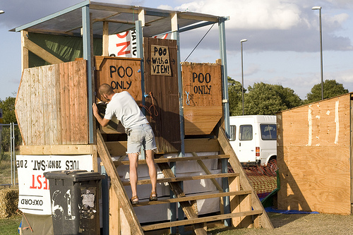 Climate Camp Toilets by Flickr user reynard