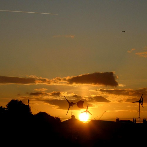 Sundown on Blackheath Climate Camp by Flickr user Eddie C