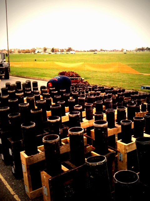 Fireworks being prepared on Blackheath by twitter user niponravel
