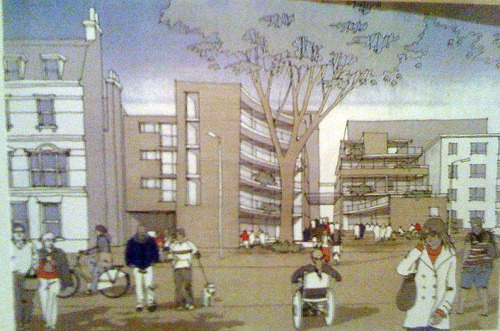 An artist's impression of how the Blackheath Square could look