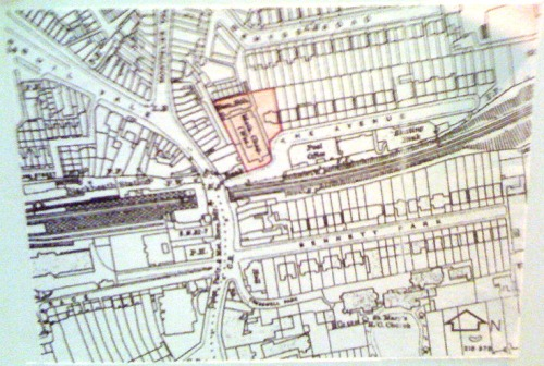1920s map of how the carpark area looked