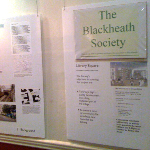 The exhibition at the Blackheath Halls